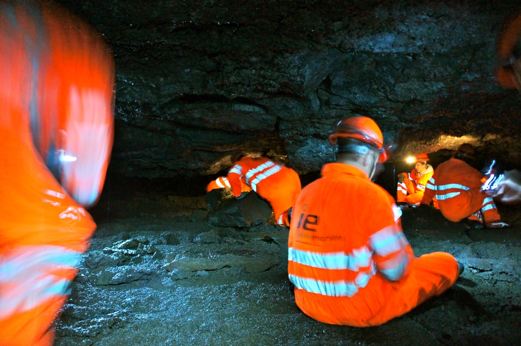 Lava tube crawl